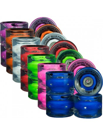 Sunset Wheels Cruiser 59mm 78A LED
